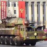 北朝鮮の軍事パレードで公開された弾道ミサイルはハリボテ模型
