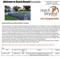 Reach Beyond Australia QSL