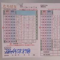 今日のゴルフ挑戦記(66)/新千葉CC「たちばな」アウト→イン(コーライ)