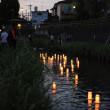 灯篭流し *赤間川☆2017*