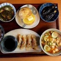 キタアカリのじゃがバターとピーマン餃子の定食