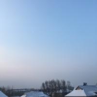 雪あけの朝