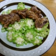 おばさんの料理教室No.2640 ジャンボオクラ・煮豚添え