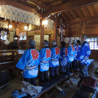 速谷神社に木遣り奉納