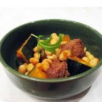 2月26日「水煮大豆とかぼちゃと鶏肉煮」