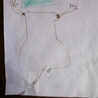 孫の絵の展覧会、私の絵ってつまらないと思う。