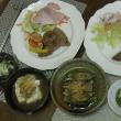 ステーキの夕食、そして天気予報より当たる^^母の気象病?