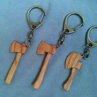 斧キーホルダー3種