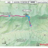 早池峰山(小田超ー山頂ー中岳ー鶏頭山ー岳)