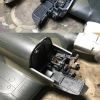 モノグラム1/48 ハインケルHe111H製作記 その21・迷彩塗装及びコクピットパーツの組み込み