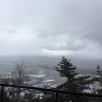 雪がちらちらする日。