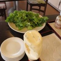 今日から自家野菜サラダバー始まり
