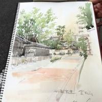 本日のスケッチ塾、古巣の覚王山