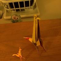 キリンの親子(折り紙)