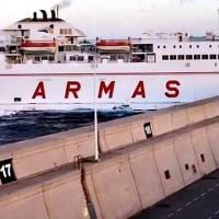 フェリーVolcán de TamasiteがGrand Canariaの桟橋に激突   スペイン