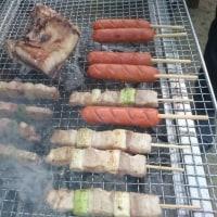 ご近所さんのお庭でBBQ ~海鮮&焼肉~