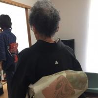 87歳、母は留袖モデルになって大変身でした。自信もついて嬉しそうでしたわ(*^^)v