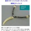 象牙クロー(ツメ)とローズバットの華美ななネックレスの紹介と前向きの句14