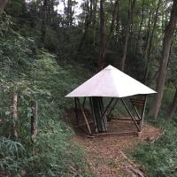 百草山にグッドデザイン賞のプレートを設置しました
