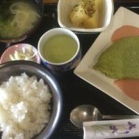 2月19日の日替り定食550円は ほうれん草のグリーンチーズオムレツ です。