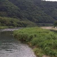 昼から青空も見える勝浦川
