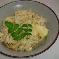 白州の米でたけのこご飯