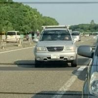 高速道路の千歳出口で渋滞!