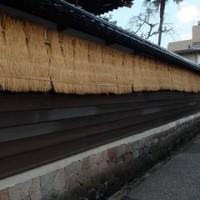 お寺も冬の装い。材木町。