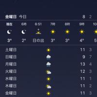 横浜は3度