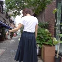 【晩夏新作】シビリゼ☆イレギュラーヘム・とろみスカート☆