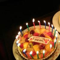 誕生日ごはん