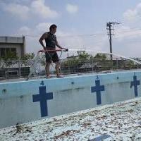 5/26 プール掃除(おやじの会編)