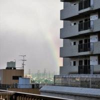 今日の「六甲山」そして「虹」