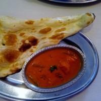 友達の配達でインドカレーを食べに行く