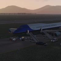 Boeing 747-8iで中国の延吉から韓国の釜山まで(2)