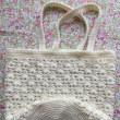 かぎ編み巾着袋 完成