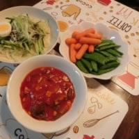 じゃじゃ麺&ラタトゥイユ&スティックサヤ