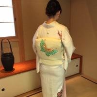 26.29日の出張着付けは、4代 田辺竹雲斎襲名展に列席される奥様の訪問着でした。