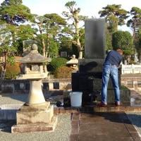 今年最後のお墓参り@多磨霊園
