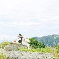 九重連山で深呼吸 @九重連山で結婚ロケーションフォト