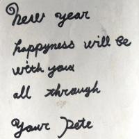 ジュリーからの年賀状