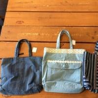 三河木綿の藍染のバッグが入荷しました!!