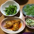 餃子  &  緑の食卓