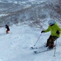 友人とのスキー2)藤原の沢