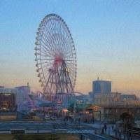 2017.01.03 横浜 みなとみらい: 観覧車が見える風景
