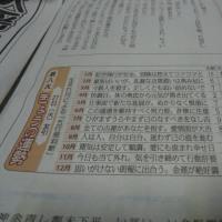 新聞の運勢欄