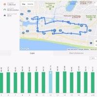 2週間ぶりのラン、17km