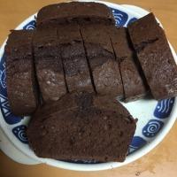 非透明鱗紅白とパウンドケーキ