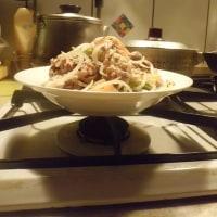 鶏皮チャーハンといつもの炒め物
