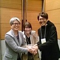 教え子と鳥取の学会で遭遇、頑張ってて嬉しい。